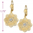 069005 Gold Layered CZ Long Earrings