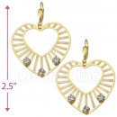 069008 Gold Layered CZ Long Earrings
