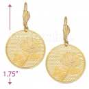 069012 Gold Layered Long Earrings