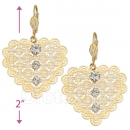 069014 Gold Layered CZ Long Earrings
