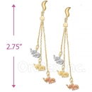 070007 Gold Layered Long Earrings