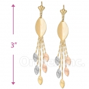071014 Gold Layered Long Earrings