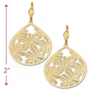 072013 Gold Layered Long Earrings