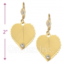 073004 Gold Layered CZ Long Earrings