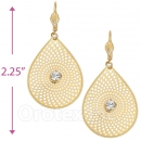 073006 Gold Layered CZ Long Earrings