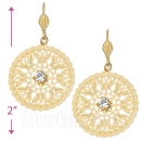 073009 Gold Layered CZ Long Earrings