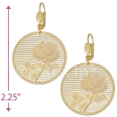 073015 Gold Layered Long Earrings