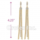 078005 Gold Layered CZ Long Earrings