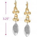 Orotex Gold Layered 2-Tone Long Earrings