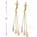 078009 Gold Layered Long Earrings