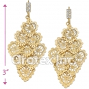 080001 Gold Layered CZ Long Earrings