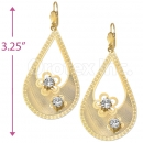 081003 Gold Layered CZ Long Earrings