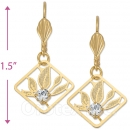 081009 Gold Layered CZ Long Earrings