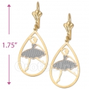 081010 Gold Layered 2-Tone Earrings