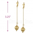 082004 Gold Layered Long Earrings