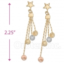083014 Gold Layered Long Earrings