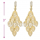 085006 Gold Layered Pearl Long Earrings