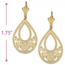 086001 Gold Layered Long Earrings