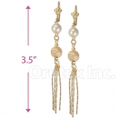 086013 Gold Layered Pearl Earrings