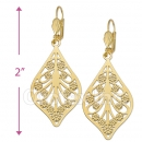 089016 Gold Layered Long Earrings