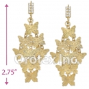 090003 Gold Layered CZ Long Earrings