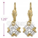 091028 Gold Layered CZ Long Earrings