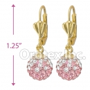 092009 Gold Layered CZ Long Earrings