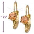 092045 Gold Layered Birth Stone Earrings