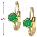 092046 Gold Layered Birth Stone Earrings