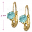 092048 Gold Layered Birth Stone Earrings