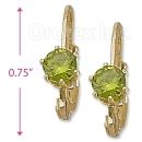 092049 Gold Layered Birth Stone Earrings