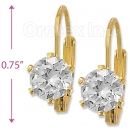 092062 Gold Layered Birth Stone Earrings