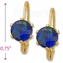 092064 Gold Layered Birth Stone Earrings