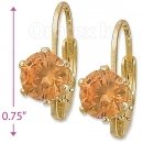 092065 Gold Layered Birth Stone Earrings