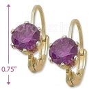 092067 Gold Layered Birth Stone Earrings