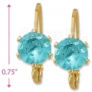 092068 Gold Layered Birth Stone Earrings