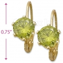 092069 Gold Layered Birth Stone Earrings