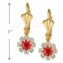 Oro Tex Gold Layered CZ Long Earrings