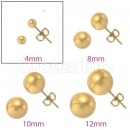 Orotex Gold Layered 4mm Gold Knob Stud Earrings