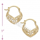 096045 Gold Layered Hoop Earrings