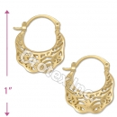 096046 Gold Layered Hoop Earrings
