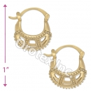 096047 Gold Layered Hoop Earrings