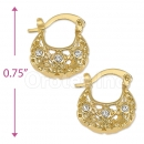 096048 Gold Layered CZ Hoop Earrings