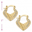 096049 Gold Layered Hoop Earrings