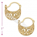 096051 Gold Layered Hoop Earrings