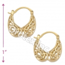 096052 Gold Layered Hoop Earrings