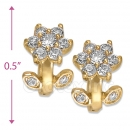 097001  Gold Layered  CZ Huggies Earring