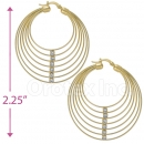 097002 Gold Layered Hoop Earrings