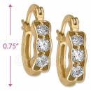097003  Gold Layered  CZ Huggies Earring