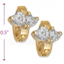 097006  Gold Layered  CZ Huggies Earring
